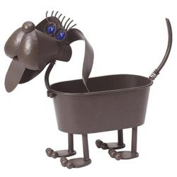 Gertruda the Weiner Dog Planter