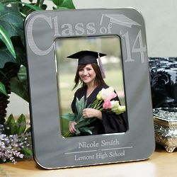 Engraved Silver Graduation Picture Frame