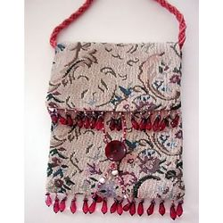 Flower Tapestry Handbag