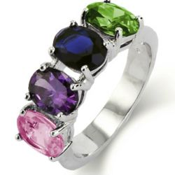 Close to the Heart 4 Oval Cut Birthstones Ring