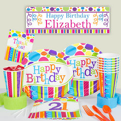 Bright and Bold 21st Birthday Party Kit