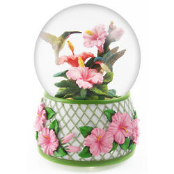 Hummingbird Drinking From a Flower Waterglobe