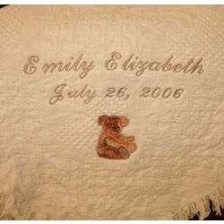 Traditional Bear Personalized Baby Blanket