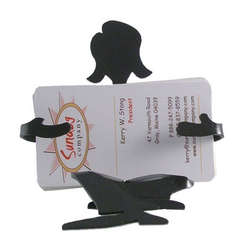 Sitting Card Girl Business Card Holder