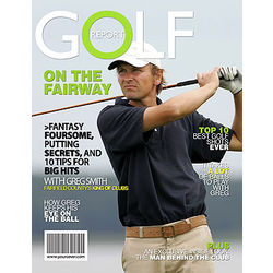 Personalized Golfer Magazine Cover