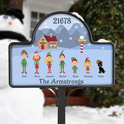 Christmas Character Yard Stake with Magnet