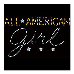 All American Girl Rhinestud T-Shirt