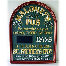 Personalized Irish Countdown Sign