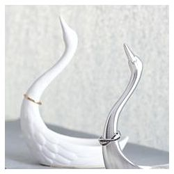 Ceramic Swan Ring Holder