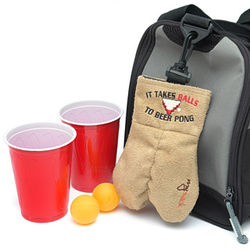 Mysack 'It Takes Balls to Beer Pong' Ball Holder