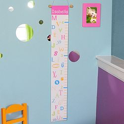 Personalized Pink Alphabet Growth Chart