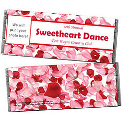 Personalized Photo Rose Petals Candy Bar Wrapper