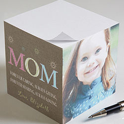 Personalized One-Photo Note Paper Cube for Mom