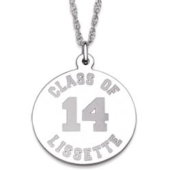 Sterling Silver Graduation Class Year Necklace