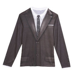 1960s Suit and Tie Long-Sleeve T-Shirt
