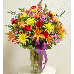 Bright Beautiful Blessings Funeral Flowers