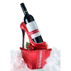 Santa Baby Wine Caddy Gift Box