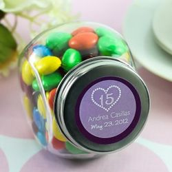 Personalized Teen Birthday Mini Candy Jar Favors