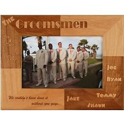 Wooden Personalized Groomsmen Frame