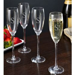 Pure Elegance Personalized Champagne Flutes