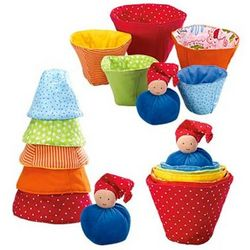 Fabric Stacking Cups with Gnome