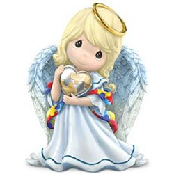 Precious Moments Angel of Caring Autism Figurine