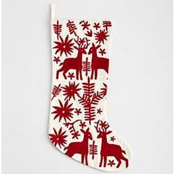 Embroidered Otomi Stocking