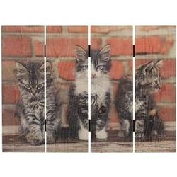Handcrafted Three Kittens Wall Decor