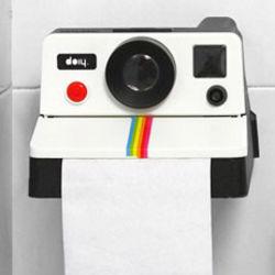 Polaroll Camera Toilet Paper Holder