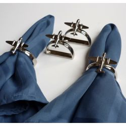 4 Airplane Napkin Rings
