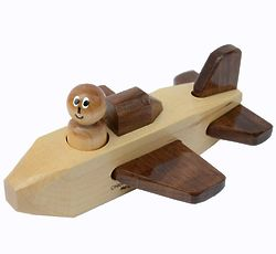 Wooden Toy Carrier Jet