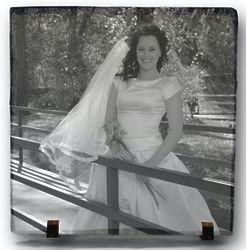 "Wedding Photo on 7.5"" Slate Plque"