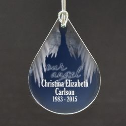 Our Angel Memorial Tear Drop Ornament