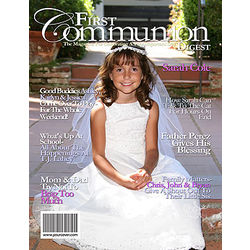 First Communion Personalized Magazine Cover