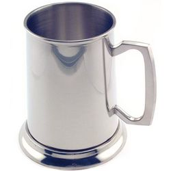 Engravable Bright Pewter Tankard