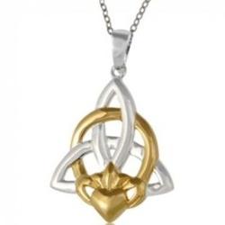 Claddagh Trinity Knot Necklace