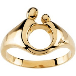 Authentic Mother and Child Ring in 14k Gold
