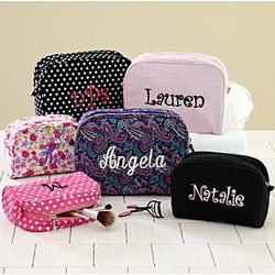 Personalized Small and Large Cosmetic Bag