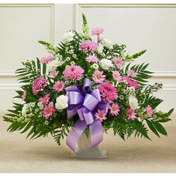 Heartfelt Tribute Floor Basket Funeral Flowers