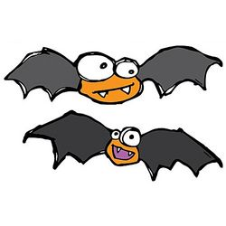 Batty and Britney Halloween Bat Car Magnets
