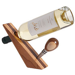 Wooden Bottle Stopper and Stand