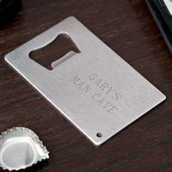 Personalized Platinum Card Bottle Opener