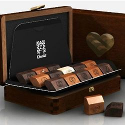 French Chocolates Sapphire Gift Box for Newlyweds