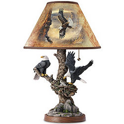 Treetop Majesty Bald Eagle Lamp