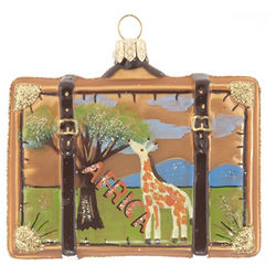 Africa Suitcase Ornament