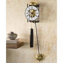 Iron Skeleton Pendulum Wall Clock