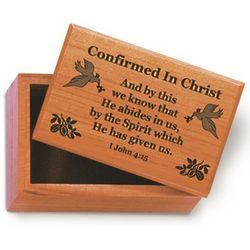 Mahogany Confirmation Rosary Box