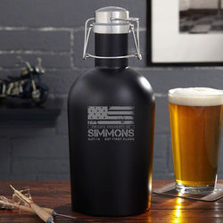 American Heroes Beer Growler in Black Matte