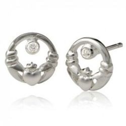 Little Claddagh Stud Earrings