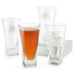 Fusion Monogram Highball Glasses